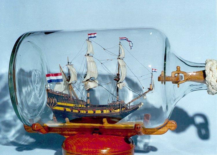 Корабль в бутылке в своими руками