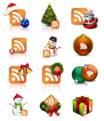 icons_ny Новогодние украшения для блога/сайта : RSS-иконки, аватарки, новогодние плагины для Wordpress