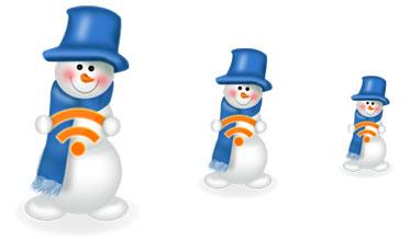 snegoviki1 Новогодние украшения для блога/сайта : RSS-иконки, аватарки, новогодние плагины для Wordpress