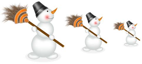 snegoviki2 Новогодние украшения для блога/сайта : RSS-иконки, аватарки, новогодние плагины для Wordpress