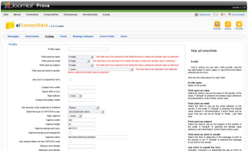 aiContactSafe02 Установка и настройка компонента для создания формы обратной связи aiContactSafe для Joomla